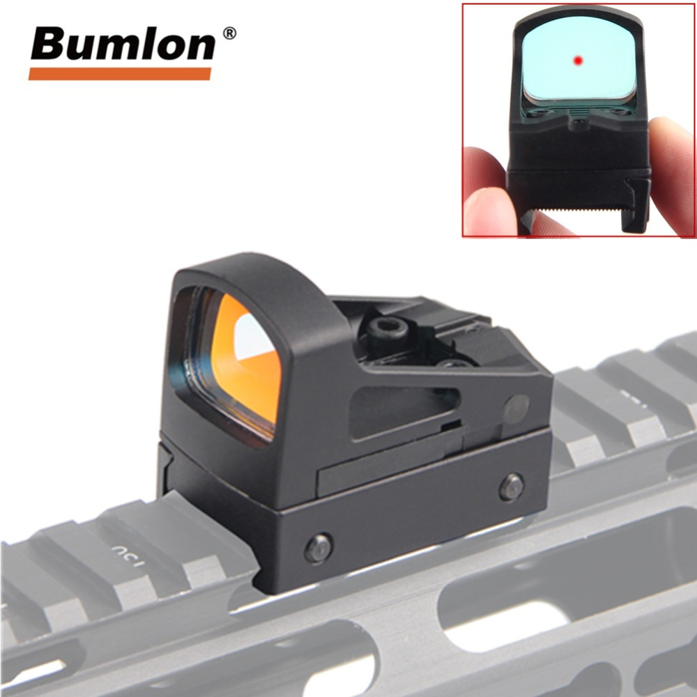 Hunting Tactical RMS Reflex Mini Red Dot Sight Scope With Ventilated Mounting And Spacers For Airsoft Glock Pistol RL5-0035