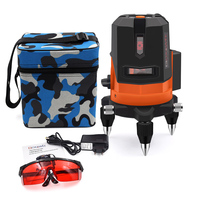 GOXAWEE Laser Level 5 Lines 6 Points 360 Degree Rotary Self Levelling Laser Level 3D Outdoor