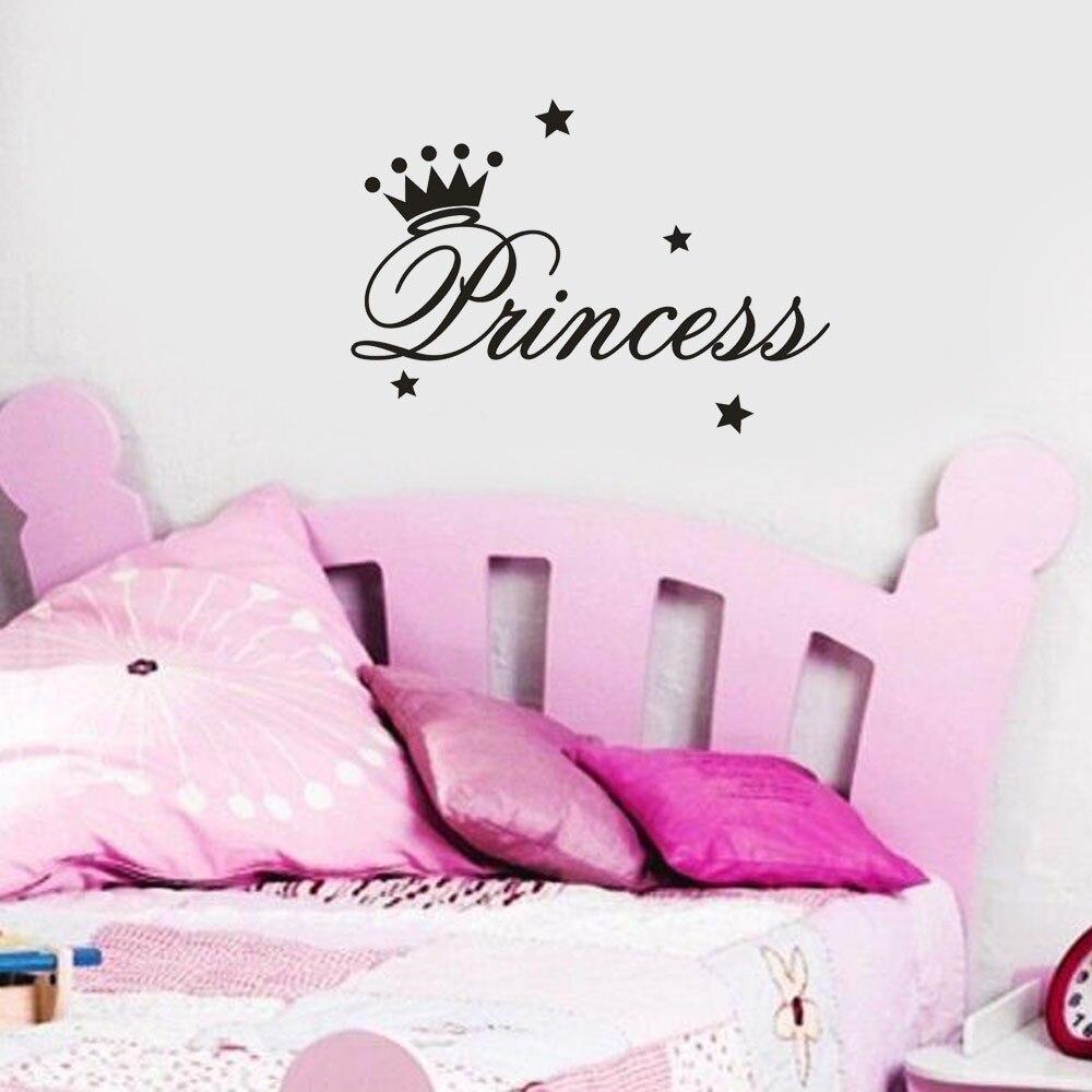 Vinyl Princess Crown Wall Stickers Baby Room Kindergarten Art Decals Wall Decals Home Decoration Living Room Poster Waterproof
