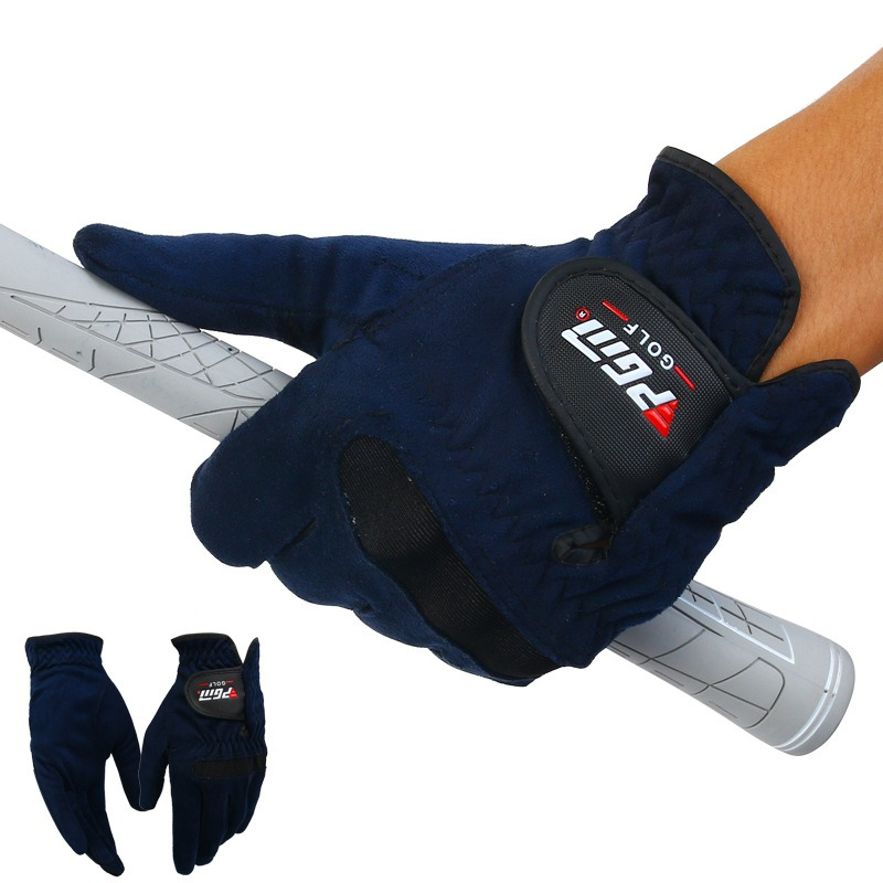 Soft Breathable Abrasion Gloves Mens Golf Gloves Right Left Hand Sweat Absorbent Microfiber Cloth