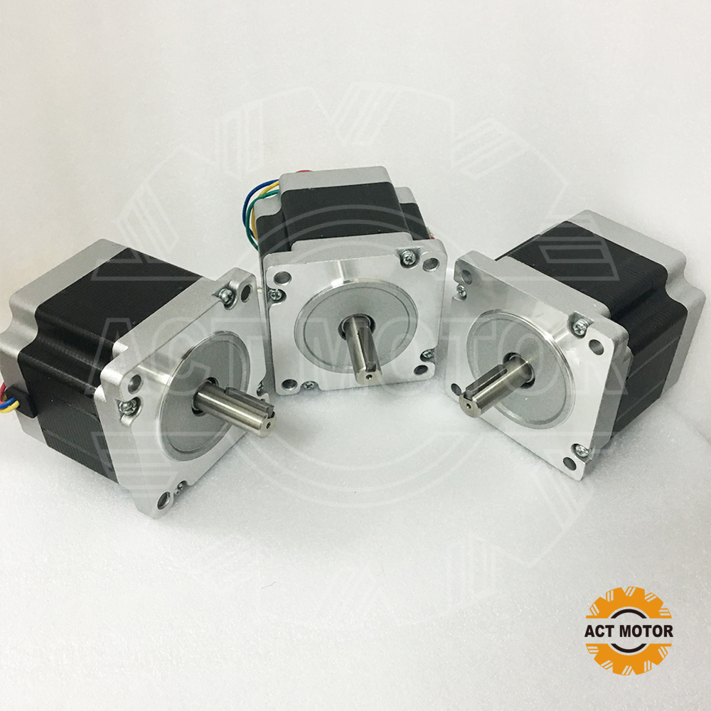 Shipping from China!ACT Motor 3PCS Nema34 Stepper Motor 34HS7440D12.7L34J5-5 710oz-in 78mm 4A 4-Lead 2Phase CA DE US JP Free shipping from china act motor 1pc nema34 brake motor 34hs5460d14l34j5 s8 1140oz in 150mm 6a 4 lead 2phase engraving machine