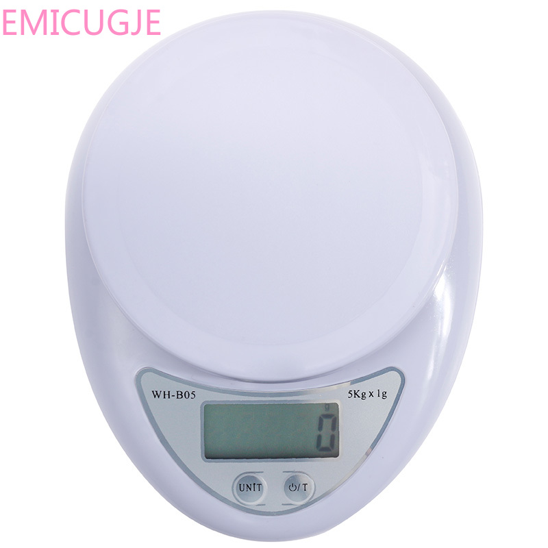 Electronic Scales 5kg/1kg Postal Food Balance Measuring Weight Kitchen LED Electronic Scales Portable Digital Scale LED