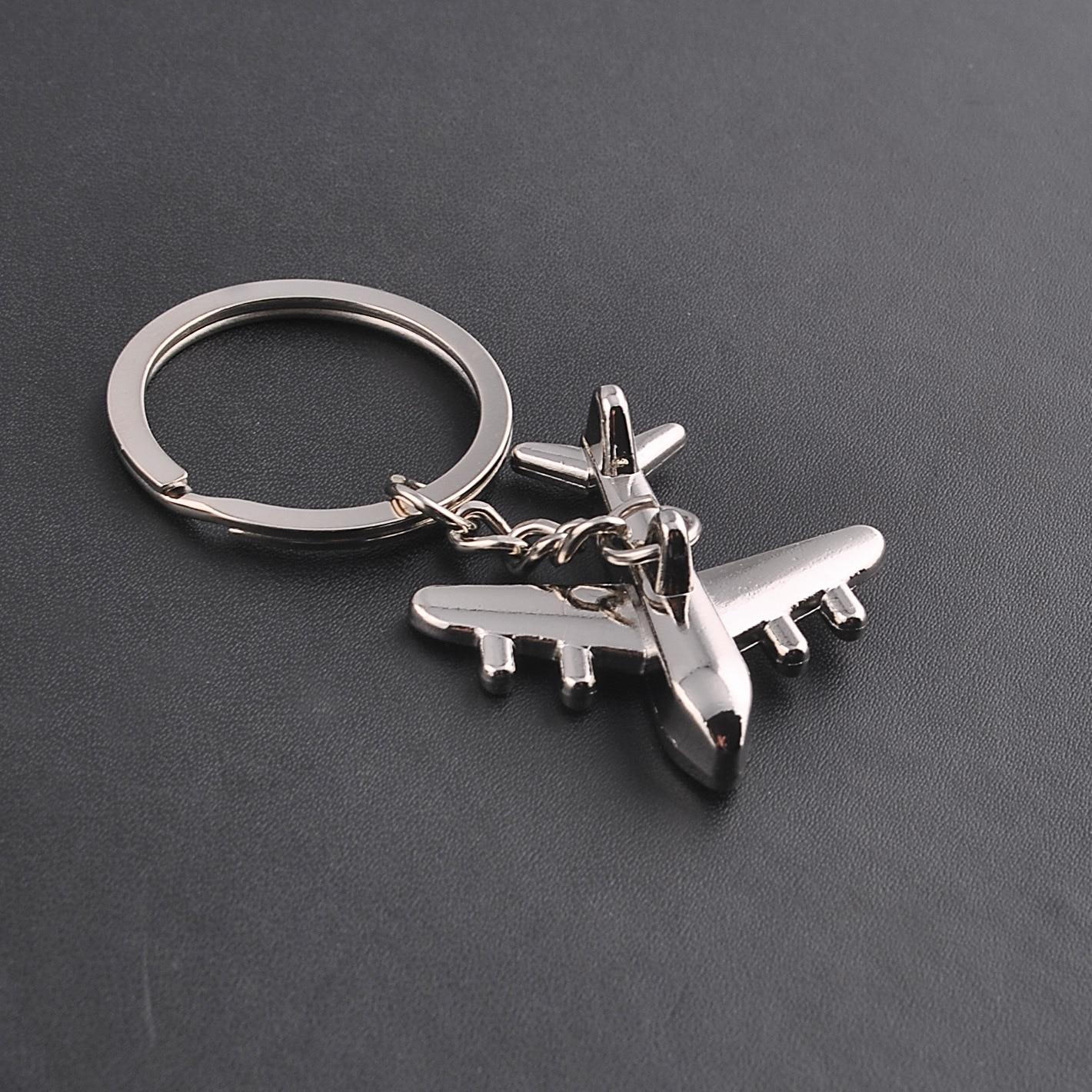 Men New Modern Fighter Aircraft Airplane Key Chain Women Mini aircraft Metal Car Key Ring Bag Pendant best Gift wholesale