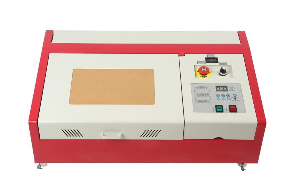 Neue Orange 40W Laser Graviermaschine 30 * 20 Gravierfräsmaschine + 4RADS