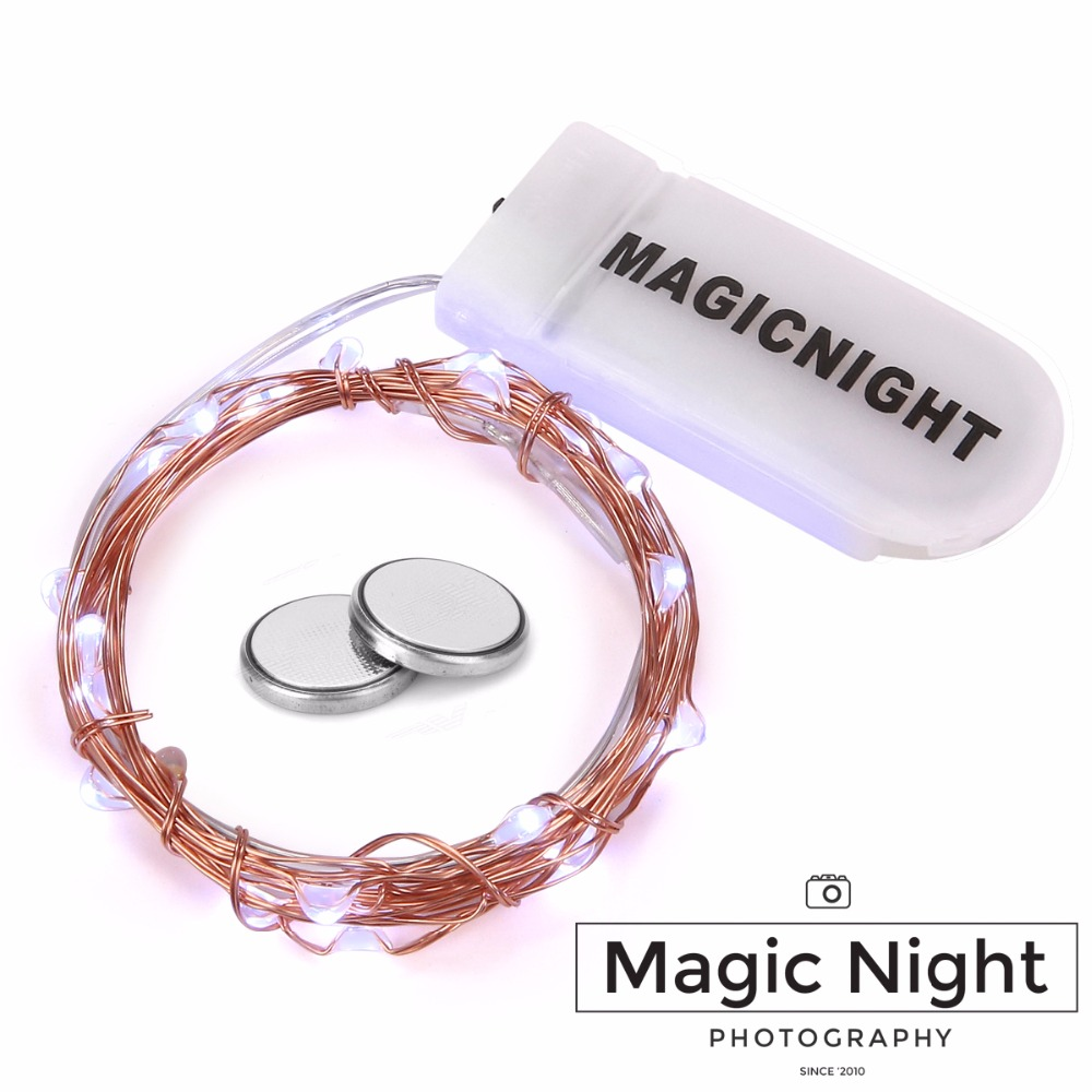 Magicnight 20 Cool White Micro LED String Lights On 7 Feet Extra Thin Copper Wire For DIY Wedding Centerpiece Included Battery