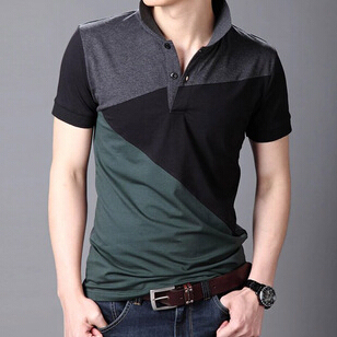 Homme Mens Polo Shirt M-6XL Plus  Blusa Masculina Polo Black Charcoal High Quality Cotton Spandex Polos Camisetas De Hombre
