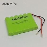 MasterFire nuevo 7 2 V AAA 800mAh Ni-MH batería recargable paquete de baterías con enchufes