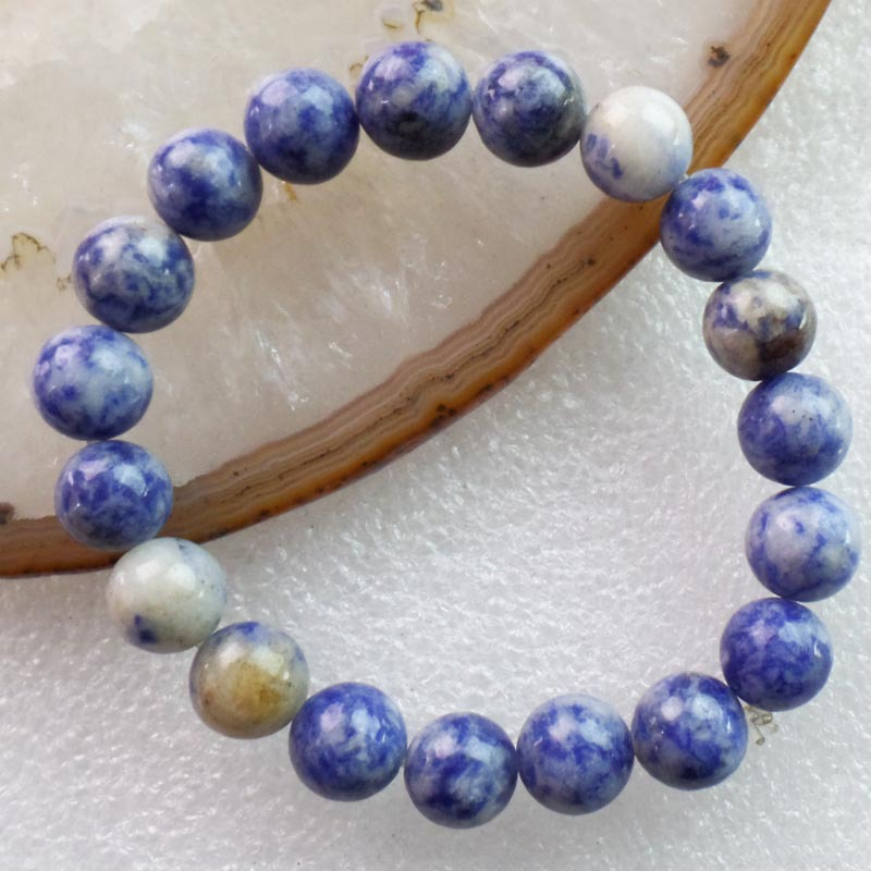 (1Strand/lot) Wholesale Natural Sodalite Round Stretchy Bracelet 7 inch 10mm Free Shipping Fashion Jewelry JC5967