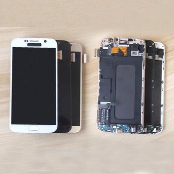 Sinbeda TFT DA 5.1 ''Per Samsung Galaxy S6 Display LCD G920F G920A G920T Touch Screen Digitizer Telaio di Montaggio Per Samsung s6 LCD