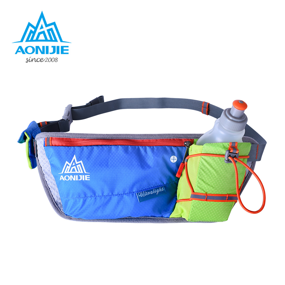 AONIJIE Running Bags Marathon Jogging Cycling Hydration Belt Waist Bag Pouch Fanny Pack Phone Holder For 250ml Water Bottle