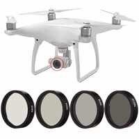 Nowy 4pc ND2 ND4 ND8 ND16 Len filtr dla DJI Phantom 3 4 profesjonalny zaawansowany aparat kamera drona zestaw obiektywu czarne oprawki