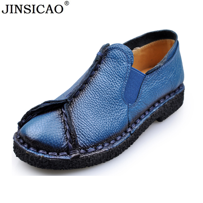 2019 New Retro Women Flats Handmade Shoes Genuine Leather Round toe Ladies Shoes Soft bottom Casual Shoes Woman Moccasins2019 New Retro Women Flats Handmade Shoes Genuine Leather Round toe Ladies Shoes Soft bottom Casual Shoes Woman Moccasins