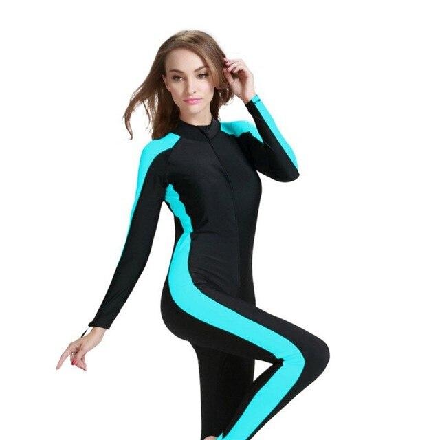 fe32708b129a € 15.25 15% de DESCUENTO|Las mujeres traje de Lycra traje de buceo de  cuerpo completo traje de baño para Divie traje de surf nuevo en Bodis de ...