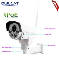OwlCat Hi3516C SONY IMX323 Wifi IP Camera PTZ PoE 48V 5X Optical Zoom Outdoor Night Vision