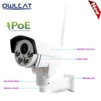 Owlcat hi3516c + Sony imx323 Wi Fi IP Камера ptz poe 48 В 5x оптический зум Открытый Ночное Видение безопасности видео ip камера слот для карты SD