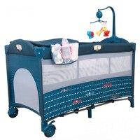 Детские кроватки Детские спальные мешки Подушка кроватки для младенцы Близнецы складная кроватка для младенца Bettr играть Многофункциональ