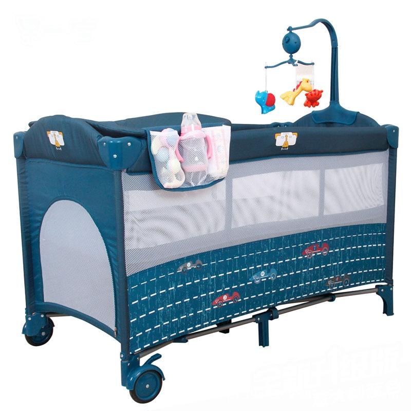 Детские кроватки детские спальники Подушка кроватки для младенцы Близнецы складная кроватка для младенца Bettr играть Многофункциональный Э