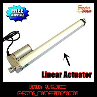Free Shipping 30inch/750mm stroke 10mm/s speed 1000N/100kgs load 12v/24v <font><b>DC</b></font> electric waterproof linear actuator by express!!! image