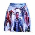 NEW 1126 Summer Sexy Girl Comics Avengers Iron Man Visus Printed Cheering Squad Tutu Skater Women Mini Pleated Skirt Plus Size