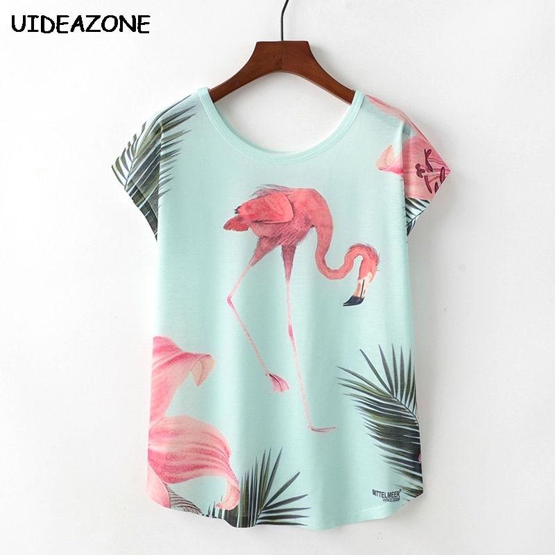 Flamingo Shirt Women Harajuku Tshirt Summer Tops For Women 2018 Camiseta Feminina Femme Mujer Graceful Elegant Flamingo Tshirts