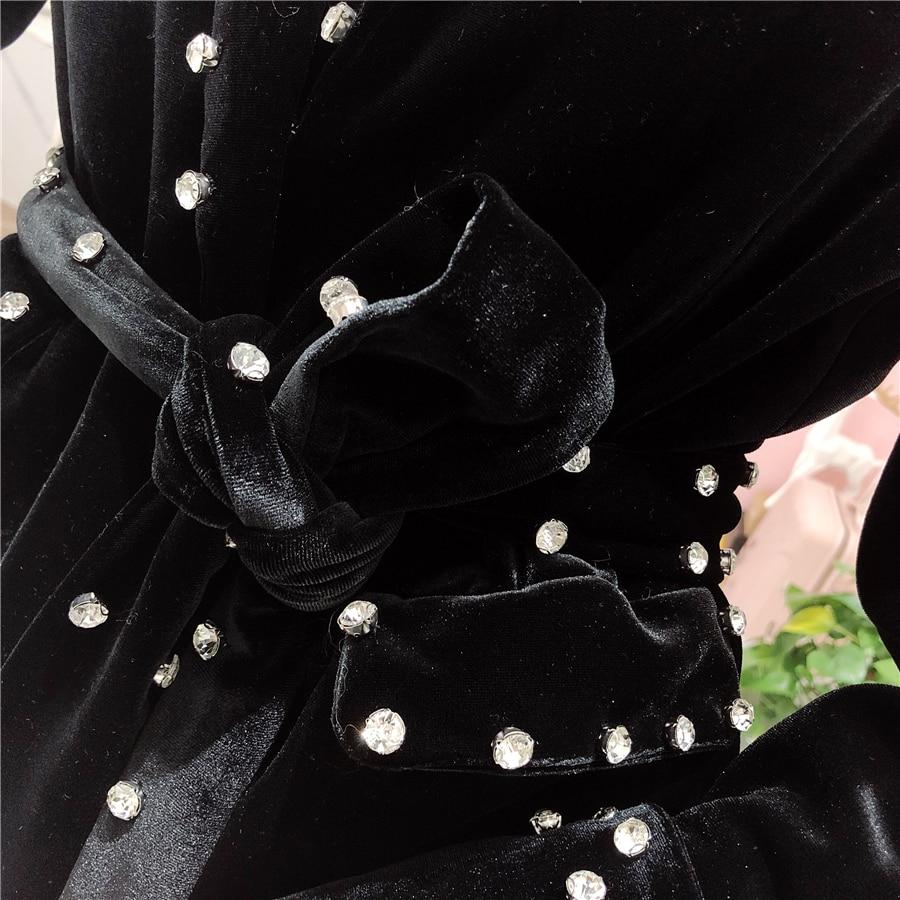 Velours Femme Conjunto Nouveau Pantalon Lourd Tenues Pièces Cakucool Diamant 2 Pièce Mujer Set Perles Printemps Femmes Ensemble Chandal TnwFaqHzp