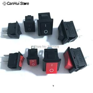 20pcs/lot Mini Boat Rocker Switch SPST Snap in AC 250V 3A / 125V 6A 2 Pin ON/OFF 10*15mm 21*15mm Rocker switches 15x21 10x15 mm