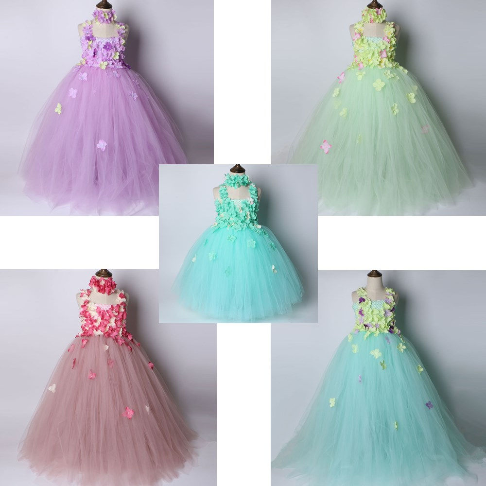 33017392a Pink And Green Flower Girl Dresses - Aztec Stone and Reclamations