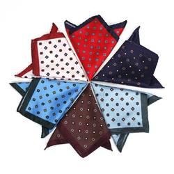 Для мужчин платок с цветочным принтом платки носовой платок из полиэстера Бизнес платок полотенце для сундуков 24x24 см BS88