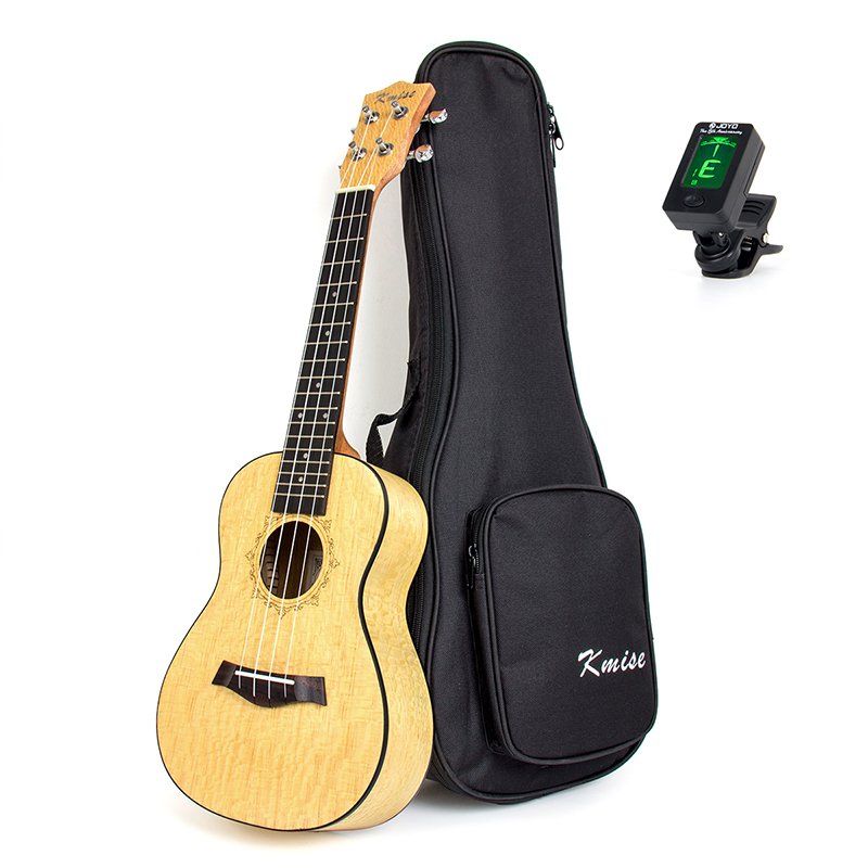 Kmise Concert Ukulele Ukelele Uke 4 String Hawaii Guitar Pearl Wood 23 Inch 18 Fret with Gig Bag Tuner ukulele bag case backpack 21 23 26 inch size ultra thicken soprano concert tenor more colors mini guitar accessories parts gig
