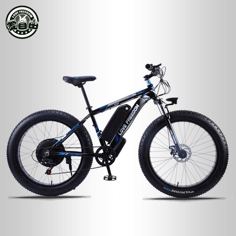 Amour liberté 26 pouces vélo électrique 48V 13ah batterie au Lithium VTT électrique 500W moteur électrique vélo de neige