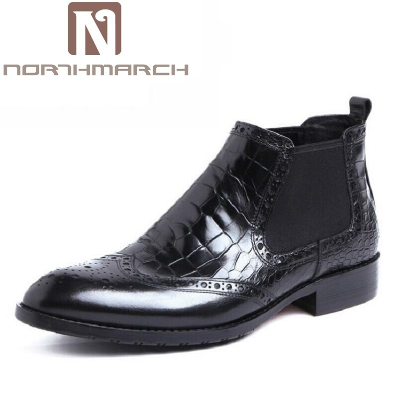 NORTHMARCH British Style Autumn And Winter Men Boots Men Flat Heel Elastic Band Chelsea Shoes Mens Boots Casual Bota Militar 2016 spring autumn europe china style new tide men canvas casual shoes blue black letters print sewing elastic band flat shoes
