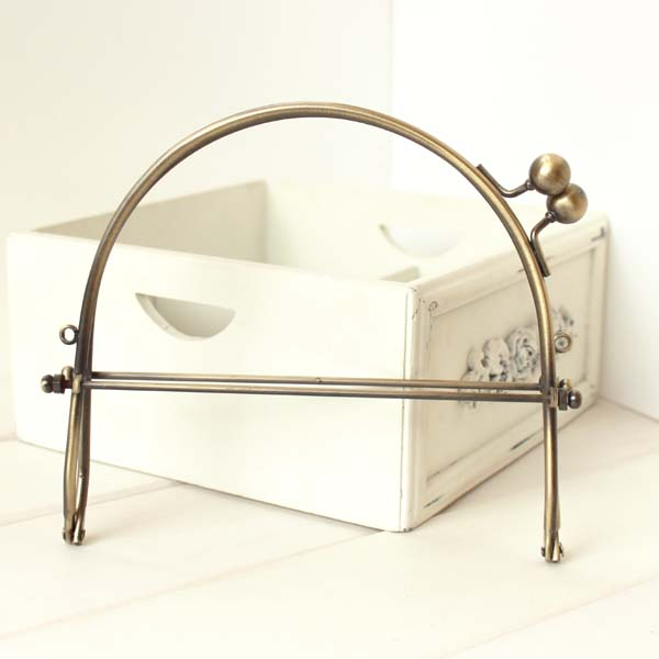 15 5cm handbag clutch frame Antique brass metal frame kiss clasp bag purse handle parts for