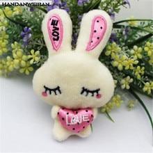 1PCS Mini Shy Rabbit Plush Toys Small Pendant Creative Cute Love Bunny Stuffed Toy 2019 For Kids Birthday Gift 12CM HANDANWEIRAN цена в Москве и Питере