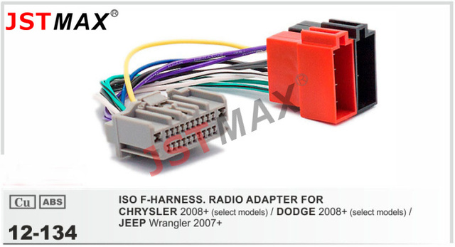 jstmax car dvd radio stereo iso cable adapter for chrysler rh aliexpress com