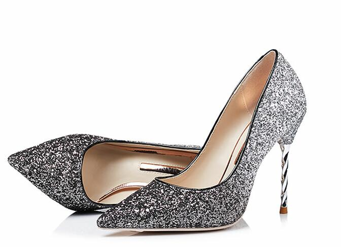 5de03cf3a0 Carollabelly Brand Shoes 10CM High Heels Glitter Wedding Shoes Woman High  Heels Sexy Ladies Shoes Pointed Toe High Heel