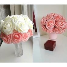 10 головок 8 см Красивые очаровательные Искусственные цветы ПЭ Пена розы Букет невесты домашний Свадебный декор Скрапбукинг DIY Поставки