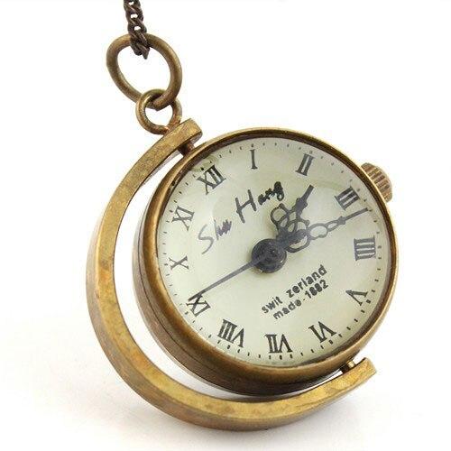 Wholesale Top Sale Vintage Gold Case Pocket Watch Mechanical Pendant ChainFreeship