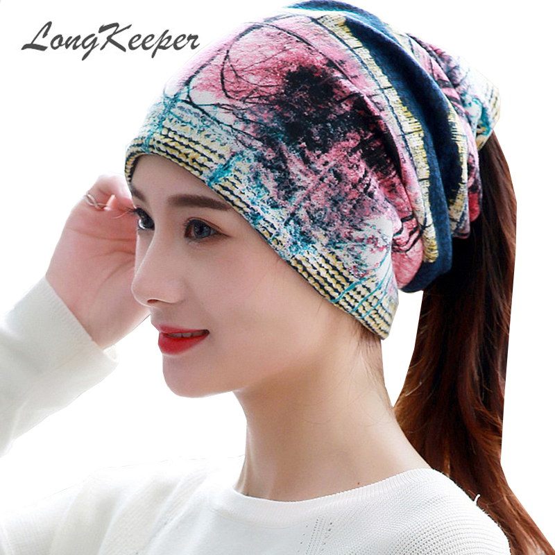 LongKeeper Brand 2018 Women's Hat Skullies Beanies Polyester Knitted Hats Beanie Hat Spring Casual Velvet Women Beanies Hats skullies brand 2017 women s hat skullies beanies polyester knitted hats beanie hat spring casual velvet women beanies hats