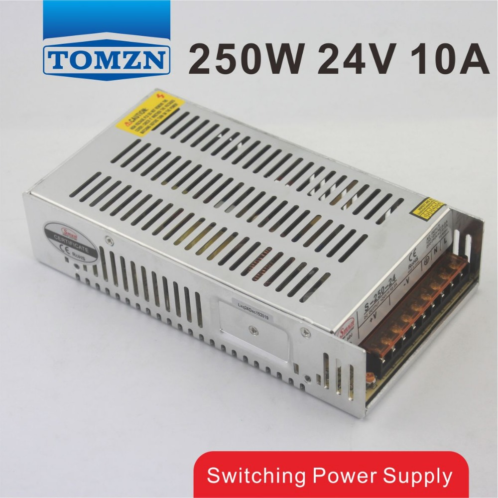 250W 24V 10A Single Output Switching power supply for LED Strip light AC to DC free shipping 35w 24v 1 5a single output mini size switching power supply for led strip light ms 35 24