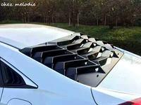 L amborghini стиль ПП матовый черный заднего окна декоративные жалюзи выхода воздуха, диффузор затвора для HONDA Civic 10 2016 2017