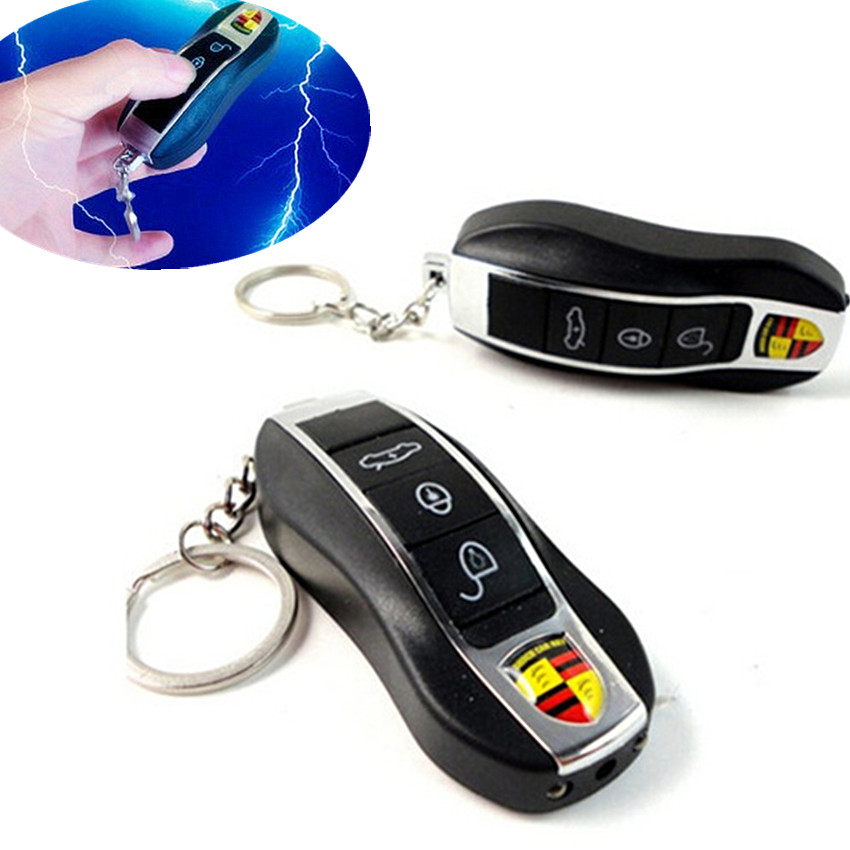 Practical Joke Car Toy Electric Shock Gag Car Remote Control Key Funny Trick Prank Toy Gifts Simulation Car Remote Control Toy недорго, оригинальная цена