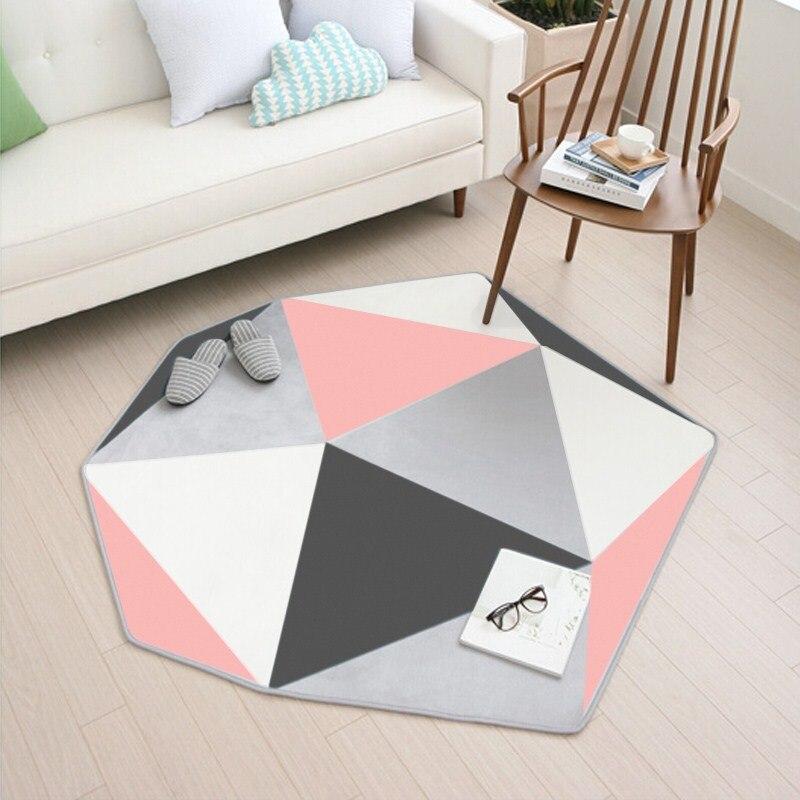 110X120CM Irregular Carpets For Living Room Home Entrance Hallway Door Mat Computer Chair Area Rug Creative