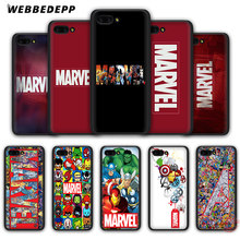 WEBBEDEPP Luxury Marvel Comics logo Soft Case for Honor 20 10 9 9X 8 Lite 8C 8X 7X 7C 7A 3GB 6A Pro View 20(China)
