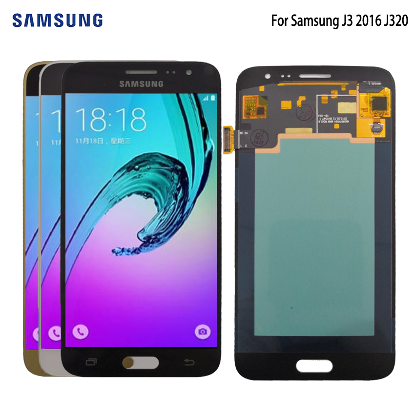 AMOLED For SAMSUNG Galaxy J3 2016 J320 LCD Display Touch Screen For Samsung J320 J320FN Screen