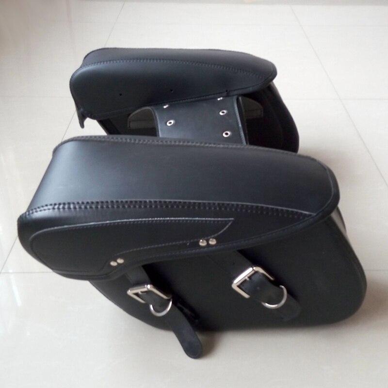 buy hot hard leather motorcycle saddlebags alforge moto side motorcycle luggage. Black Bedroom Furniture Sets. Home Design Ideas