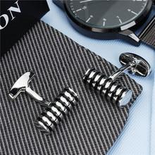 HAWSON Cylinder Enamel  Round Cufflinks for Men High Quality  and Luxury Men Cuff links