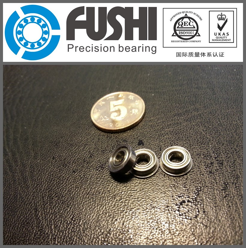 F695ZZ Flange Bearing  5x13x4 mm ABEC-1 ( 10 PCS )  Flanged F695 Z Z Ball Bearings F619/5ZZ gcr15 6326 zz or 6326 2rs 130x280x58mm high precision deep groove ball bearings abec 1 p0