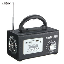 LEORY Mini Portable Wooden Stereo FM Radio Speaker MP3 Music Player USB TF Card Slot Remote For Dance Entertainment