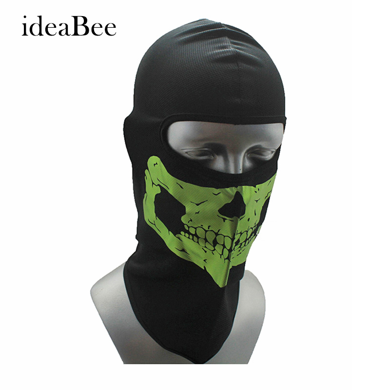 ideacherry New Balaclava Windproof Headgear Hat Skull Riding Hunting Motorcycle Halloween Full Face Neck Guard Mask tactical skull masks cs full face mask metal mesh eye shield halloween airsoft hunting field equipment