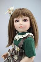 18'' 45cm SD BJD Dolls Lifelike Girls Toys Reborn Dolls Babies Realistic Doll Handmade Top Quality Full Vinyl for Chilldren Gift